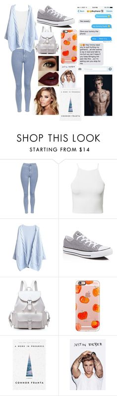 """""""Sorry by Justin bieber"""" by leila-hussain ❤ liked on Polyvore featuring Topshop, NLY Trend, Converse, Casetify, Justin Bieber and Charlotte Tilbury"""