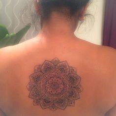 Mandala first and her birthday tattoo done today. It will takes 5 hours. #mandalatattoo #girlstattoo #tattoogirls #tatuajetokyo