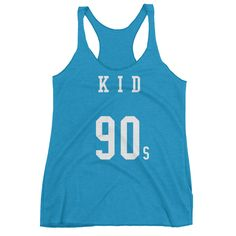 90s Kid Women's Racerback Tank Front Print by FamousByAccident on Etsy