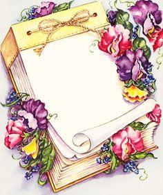 Beautiful vintage springtime illustration. #sweet_peas #vintage #illustrations