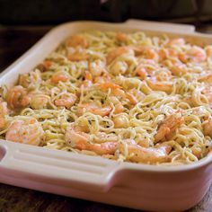 Baked Shrimp Spaghetti by Paula Deen Fish Recipes, Seafood Recipes, Pasta Recipes, Dinner Recipes, Cooking Recipes, Healthy Recipes, Seafood Casserole Recipes, Holiday Recipes, Recipies