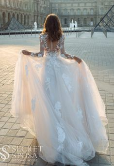 """Wedding Dresses """" Marisol """" by Gabbiano Short Lace Wedding Dress, Open Back Wedding Dress, Top Wedding Dresses, Bridal Dresses, Wedding Gowns, Royal Brides, Stunning Dresses, Ball Gowns, Floral Lace"""