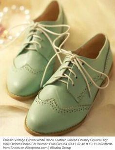 Green oxford shoe