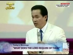'What Does the Lord Require of Thee?' by Pastor Apollo C. Quiboloy on So. Apollo, Lord, Videos, Youtube, Pastor, Youtubers, Video Clip, Youtube Movies, Apollo Program