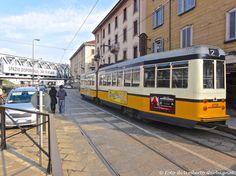 """....vettura a 2 casse """"Stanga"""" """" 4700"""" versione bicolore giallo-bianco  ATM-4729 .... 17 febb 2013 - © Umberto Garbagnati -"""