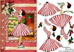 Retro Lady Christmas Eve Book Cover Style on Craftsuprint - View Now!
