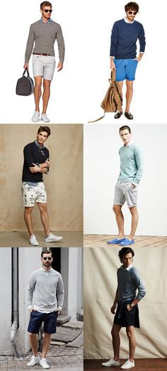 Men's Oxford Shirts, Sweatshirts/Jumpers and Shorts - Spring/Summer Outfit Inspiration Lookbook