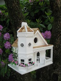 Home Bazaar Fledgling Series Flower Pot Cottage Bird House Fledgling Series Flower Pot Cottage Bird HouseRemovable back wallVentilation and dra… Decorative Bird Houses, Bird Houses Diy, Fairy Houses, Mini Houses, Victorian Manor, Bird Types, Bird House Kits, Home Living, Bauhaus