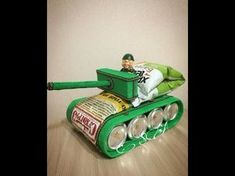 Танк из пива. Подарок для поклонников world of tanks и военных. - YouTube