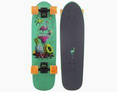 landyachtz dinghy flamingo martini urban cruiser longboard skateboard