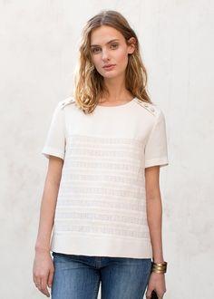 Blouse Bella // Collection Printemps Été ww.sezane.com #sezane #lookbook #collection #printemps #ete #rome #ladolcevita #blouse #bella