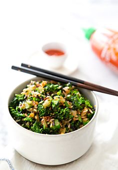 BROCCOLINI FRIED RICE via A House in the Hills