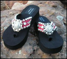 0322bc868a87 Cowgirl Jewelry and Custom Flip Flops