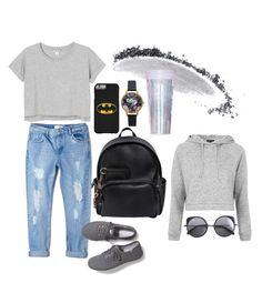 """""""Ms. Grey"""" by lauralionels ❤ liked on Polyvore featuring Monki, MANGO, Keds, Dsquared2, Olivia Burton, NARS Cosmetics, ban.do, Topshop and Wood Wood"""