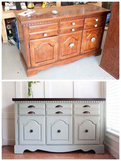 Client Files | Vintage Sideboard Buffet Dresser Makeover - Southern Revivals