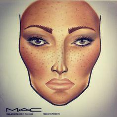 MAC facechart from pinkcolours makeup :). Follow me on instagram: pinkcolours_makeup
