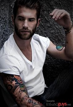 Tattooed men! Wow.