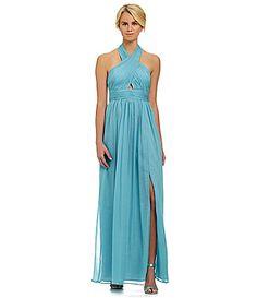 Jill Jill Stuart Crisscross Neck Chiffon Gown #Dillards