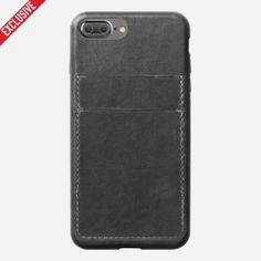 Husa piele iPhone 7 Plus Nomad, carcasa tip portofel, Horween leather - TotalMobil Iphone 7 Plus, Phone Cases, Leather, Phone Case