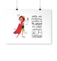 Divertida Lámina Ilustrada de Reina Pecas de Pedrita Parker. #Humor #Ilustración