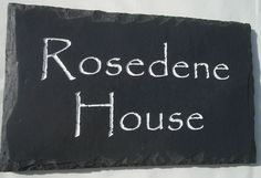 British House Plaques made using the very best of UK sourced stone. Available in various stones and different engraving styles. House Name Plaques, House Names, House Entrance, Entrance Ideas, Name Plates For Home, Slate Signs, Name Boards, Rustic Stone, Home Signs