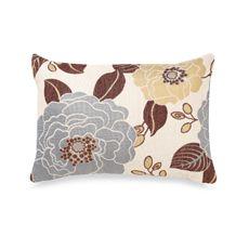 Full Bloom Oblong Decorative Toss Pillow - Blue - Bed Bath & Beyond