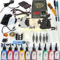 New 400 Pcs Tattoo Machines Kit Complete Set