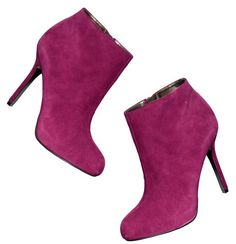 Rock the pink boot! LOFT, Ellie Suede Stiletto Booties