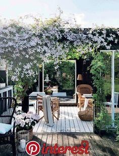 terrace garden 26 DIY Garden Privacy-I - gardencare Garden Deco, Diy Garden, Terrace Garden, Garden Pots, Scandinavian Garden, Garden Privacy, Garden Furniture, Garden Inspiration, Backyard Landscaping