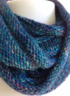 Hand Knit Pashmina Infinity Scarf Cowl by StitchesnQuilts on Etsy