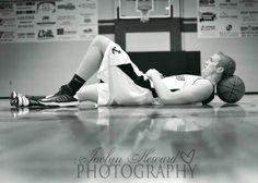 Basketball Senior Picture Poses | Senior basketball pose ideas. Jaclyn Heward photography