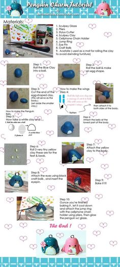 Penguin Charm Tutorial by ~lemonlimefizz on deviantART