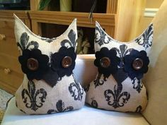 XL owl pillows from Ugg Lee Dolls on facebook