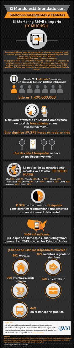 El Marketing móvil sí importa #infografia #infographic #marketing