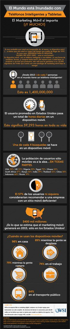 EL MARKETING MÓVIL SÍ IMPORTA #INFOGRAFIA #INFOGRAPHIC #MARKETING