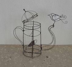 """Conversation secrète entre un poisson et un oiseau""""sculpture surréaliste. : Sculptures, gravures, statues par fil-et-mousse"""