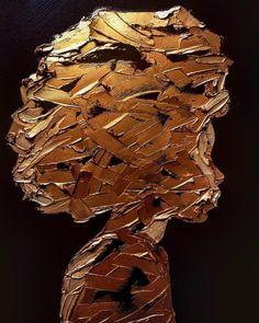 Gold paint – by Elena Gual (📷elenagual. Painting Inspiration, Art Inspo, Doodle Drawing, Black Art Painting, Black Girl Art, Afro Art, Gcse Art, Texture Art, Gold Paint