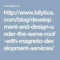 Bilytica Extensions specializes in Development and offers its respected clients, the best Magento Development services! Our experts spend as much time as needed in helping you to boost up your Online Magento Store's efficiency, taking it a step further Building A Website, Effective Communication, Software Development, Just Giving, The Help, Coding, Messages, How To Plan, Extensions