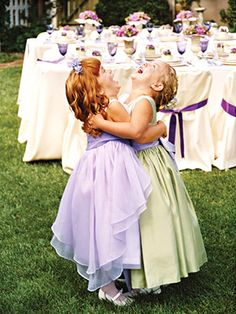 adorable little girls laughing in friendship