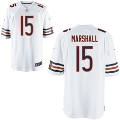 new bears 15 brandon marshall nike elite jersey white