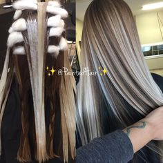 """11.8k Likes, 174 Comments - Patricia Nikole (@paintedhair) on Instagram: """"❤♀️Process to Multidimensional Blonde ✨PaintedHair✨ Open Air Processed and blended into…"""""""