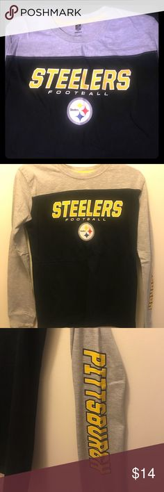 Steelers Long Sleeve Shirt Only worn a few times. NFL Licensed. Has Pittsburgh written on the sleeve. NFL Tops Tees - Long Sleeve