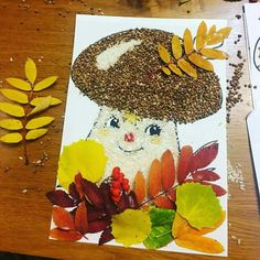 fall - Fall Crafts For Kids Autumn Crafts, Fall Crafts For Kids, Autumn Art, Nature Crafts, Diy For Kids, Diy And Crafts, Arts And Crafts, Paper Crafts, Fall Preschool