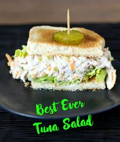 This delicious Best Ever Tuna Salad is full of protein, tangy, creamy, sweet and comes with a totally surprising ingredient! Best Tuna Sandwich, Tuna Sandwich Recipes, Best Tuna Salad Recipe, Healthy Sandwiches, Tuna Recipes, Wrap Sandwiches, Seafood Recipes, Gourmet Recipes, Cooking Recipes