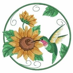 Watercolor Hummingbird and Flowers 4 - 3 Sizes! | What's New | Machine Embroidery Designs | SWAKembroidery.com Ace Points Embroidery