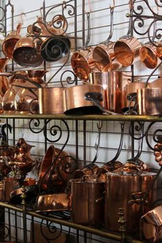 Copper Cookware Pots And Pans Sets Copper Cookware Frying Pan Copper Pots, Copper Kitchen, Copper And Brass, French Kitchen, Country Kitchen, Vintage Kitchen, Copper Cooking Pan, Kitchen Decor, Kitchen Design