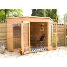Corner Summerhouse 8ft x 8ft | Summerhouses | | Garden Sheds from Wilkinson Plus