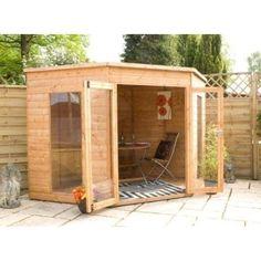 Corner Summerhouse 8ft x 8ft | Summerhouses | | Garden Sheds from Wilkinson Plus