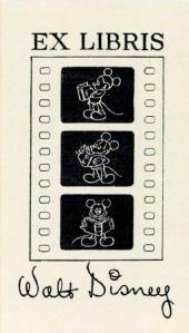 Ex libris Walt Disney 1935. William Augustus Brewer Bookplate Collection