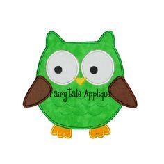 Digital Machine Embroidery Design Owl by FairytaleApplique